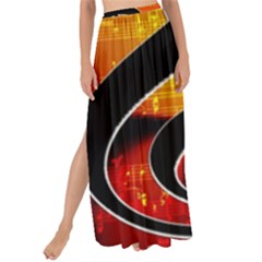 Clef Music Lines Notenblatt Maxi Chiffon Tie-up Sarong by HermanTelo