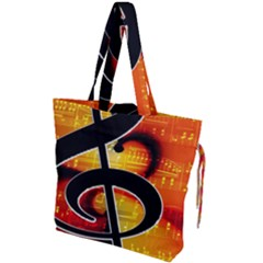 Clef Music Lines Notenblatt Drawstring Tote Bag