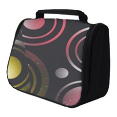 Circles Yellow Space Full Print Travel Pouch (small)