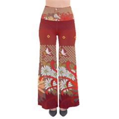Abstract Flower So Vintage Palazzo Pants