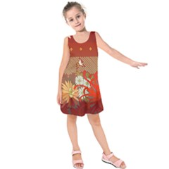 Abstract Flower Kids  Sleeveless Dress by HermanTelo