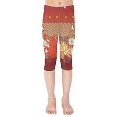 Abstract Flower Kids  Capri Leggings  by HermanTelo