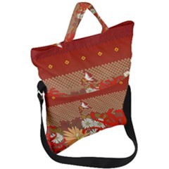 Abstract Flower Fold Over Handle Tote Bag