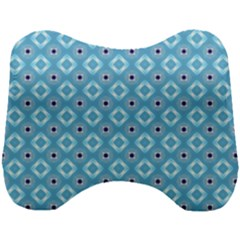 Blue Pattern Head Support Cushion
