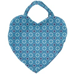 Blue Pattern Giant Heart Shaped Tote by HermanTelo