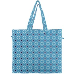 Blue Pattern Canvas Travel Bag