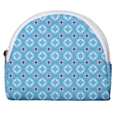Blue Pattern Horseshoe Style Canvas Pouch by HermanTelo