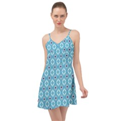 Blue Pattern Summer Time Chiffon Dress