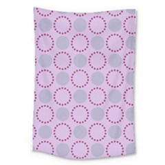 Circumference Point Pink Large Tapestry