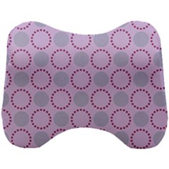 Circumference Point Pink Head Support Cushion