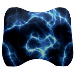 Electricity Blue Brightness Velour Head Support Cushion