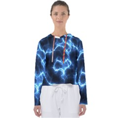 Electricity Blue Brightness Women s Slouchy Sweat by HermanTelo