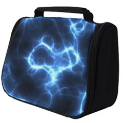 Electricity Blue Brightness Full Print Travel Pouch (big)