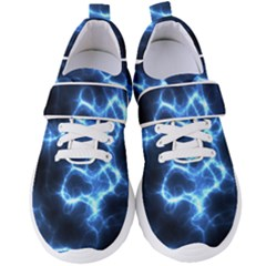 Electricity Blue Brightness Women s Velcro Strap Shoes by HermanTelo