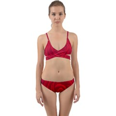 Roses Red Love Wrap Around Bikini Set