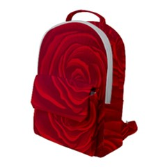 Roses Red Love Flap Pocket Backpack (large)