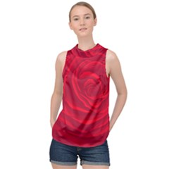 Roses Red Love High Neck Satin Top by HermanTelo
