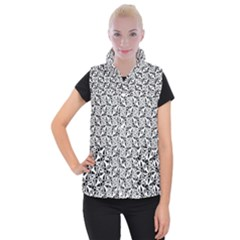 Ornamental Checkerboard Women s Button Up Vest