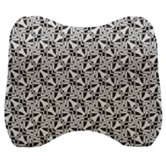 Ornamental Checkerboard Velour Head Support Cushion