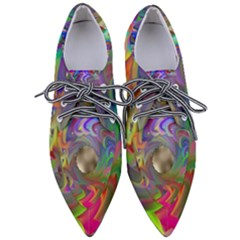 Rainbow Plasma Neon Pointed Oxford Shoes by HermanTelo