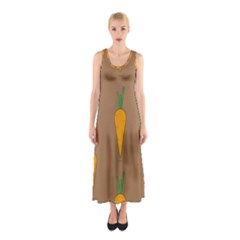 Healthy Fresh Carrot Sleeveless Maxi Dress