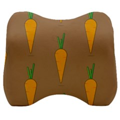 Healthy Fresh Carrot Velour Head Support Cushion