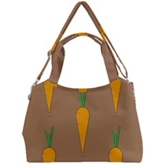 Healthy Fresh Carrot Double Compartment Shoulder Bag by HermanTelo