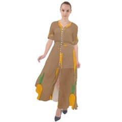 Healthy Fresh Carrot Waist Tie Boho Maxi Dress