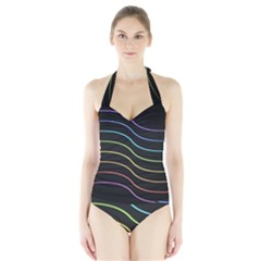 Wallpaper Background Colors Neon Halter Swimsuit by Bajindul