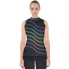 Wallpaper Background Colors Neon Mock Neck Shell Top