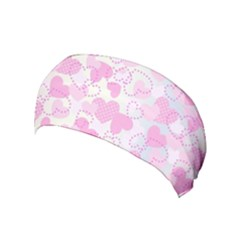 Valentine Background Hearts Yoga Headband