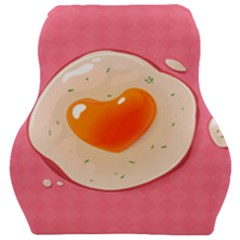 Omelette Heart Pink Valentine Car Seat Velour Cushion  by Bajindul