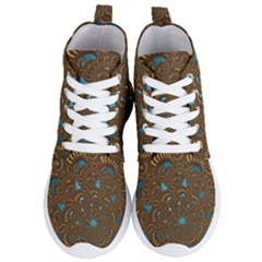 Fractal Abstract Women s Lightweight High Top Sneakers by Bajindul