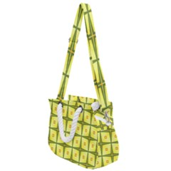 Background Pattern Gold Rope Handles Shoulder Strap Bag by Bajindul