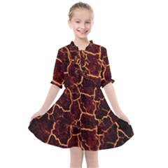 Lava Fire Kids  All Frills Chiffon Dress