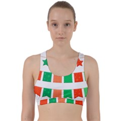 Christmas Bunting Banners Tasse Back Weave Sports Bra