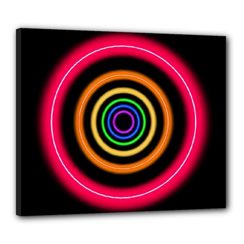 Neon Light Abstract Canvas 24  X 20  (stretched)