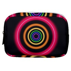 Neon Light Abstract Make Up Pouch (small)
