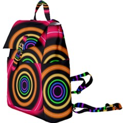 Neon Light Abstract Buckle Everyday Backpack by Bajindul