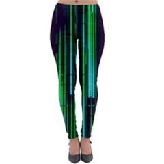 Background Blur Lightweight Velour Leggings by Bajindul