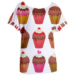Chocolate Cake Muffin Women s Oversized Tee by Bajindul