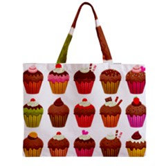 Chocolate Cake Muffin Zipper Medium Tote Bag by Bajindul