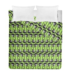 Guitars Musical Instruments Duvet Cover Double Side (full/ Double Size) by Bajindul
