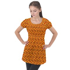 Rby 3 2 Puff Sleeve Tunic Top by ArtworkByPatrick