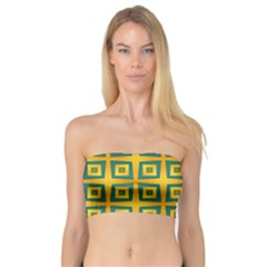 Green Plaid Star Gold Background Bandeau Top by Alisyart