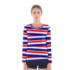 Patriotic Ribbons Women s Long Sleeve Tee