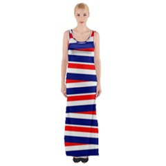 Patriotic Ribbons Maxi Thigh Split Dress