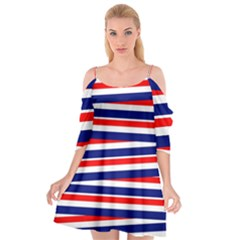 Patriotic Ribbons Cutout Spaghetti Strap Chiffon Dress by Mariart