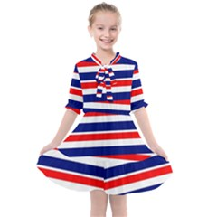 Patriotic Ribbons Kids  All Frills Chiffon Dress by Mariart