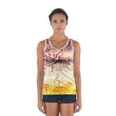 Scrapbooking Paper Music Sport Tank Top  by AnjaniArt